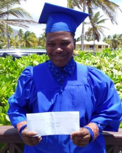 P(Gain) Beneficiary & St. James Graduate Damian Modesto