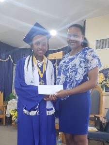 P(Gain) Beneficiary & St. James Graduate Junice Eaton